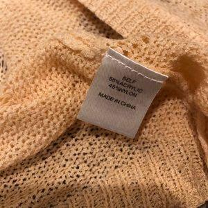 Wallpapher Sweaters - SALE- Cardigan Dolman White/Coral